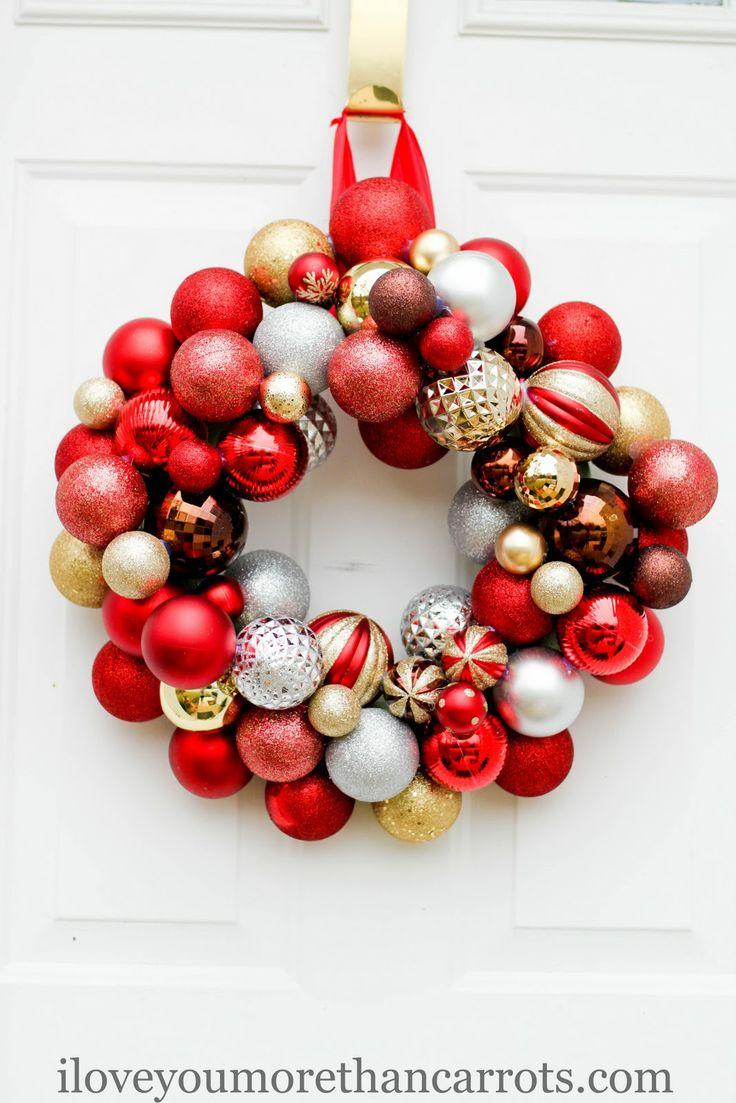 Diy Christmas Ornament Wreath {#christmas #wreath}