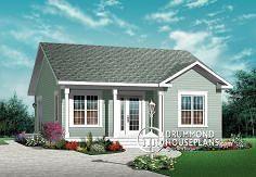 Plano de Casa W3113 con imágenes Casas americanas
