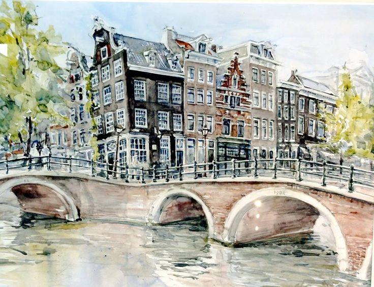 Картинки амстердама акварель, сделать