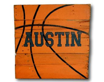 Sticker basket / Sports Decor / signal de par PalletsandPaint