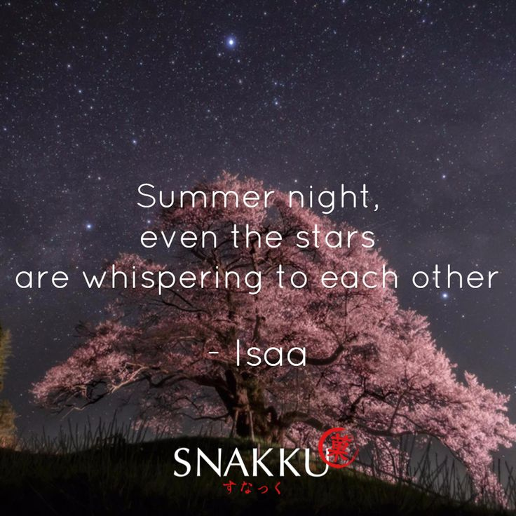 Japanese Haiku Poem by Kobayashi Issa wrote about the beautiful night sky.