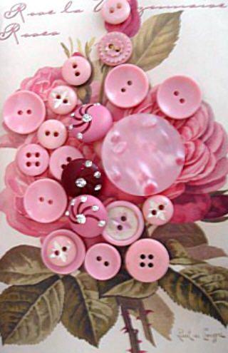 Pretty in Pink button flower.