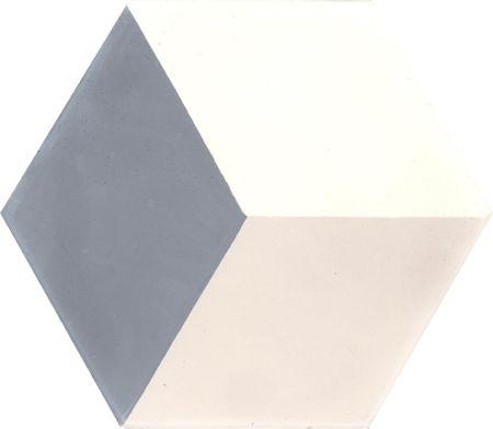 Carreaux de ciment - Les carreaux hexagonaux - Carreau HU 10.07.33 - Couleurs & Matières