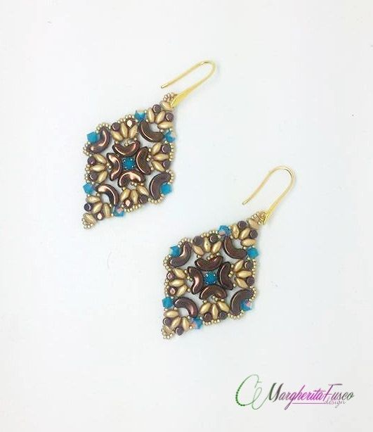 Medea earrings pattern minos and arcos bead by 75marghe75 on Etsy