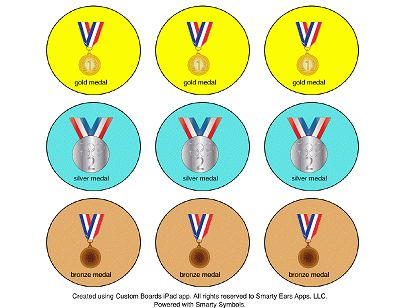 """Olympic Medals and """"Ring-things"""" I SPY language game"""