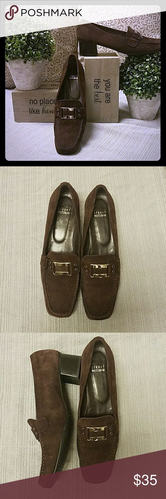 Stuart Weitzman brown suede loafer size 10 1/2 Used in great condition perfect for fall. Stuart Weitzman Shoes Flats & Loafers