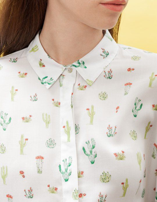 At Stradivarius you'll find 1 Print shirt for woman for just 329.9 IDR . Visit now to discover this and more SHIRTS.