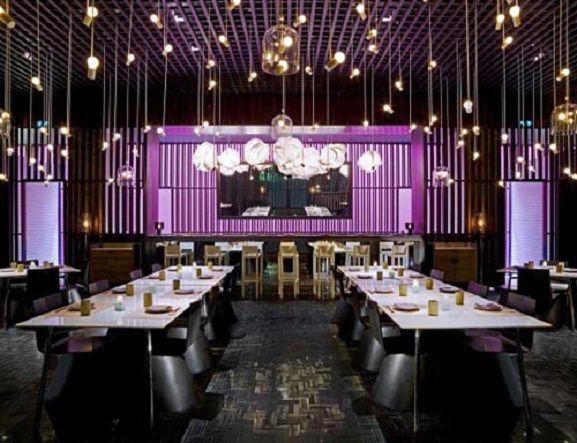 restaurant design tips - Beaded Inset Restaurant Interior