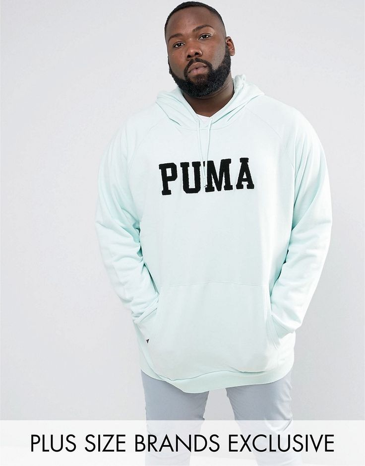 Puma PLUS Skate Hoodie With Large Logo In Blue Exclusive to ASOS 57659