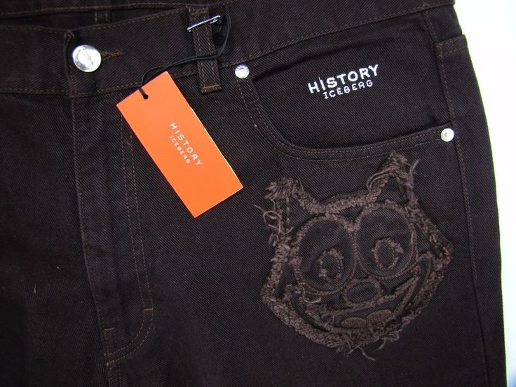 HISTORY ICEBERG JEANS FELIX THE CAT NWT Rare Chocolate Brown 38 x 36 NEW #HistoryIceberg #ClassicStraightLeg