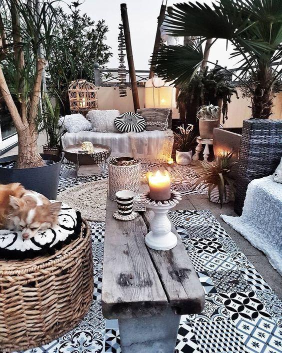 #bohemian #balcony #balconydecor #bohostyle #outdoor