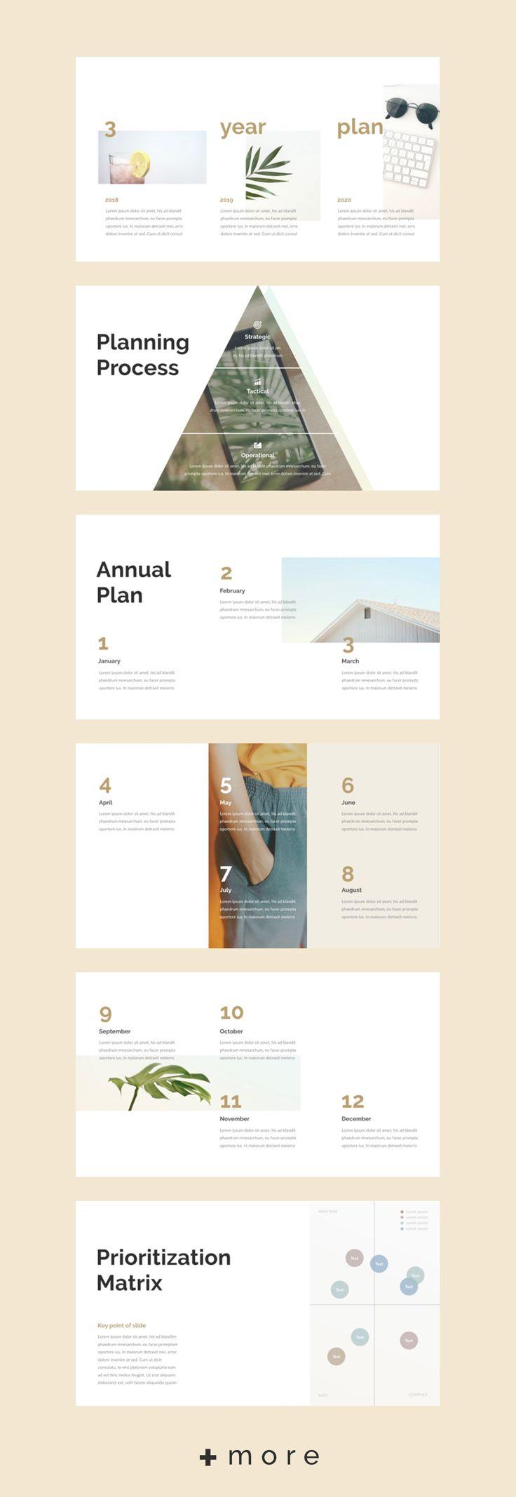 Simple layout presentation design template: Planner 2018 business planning #keynote