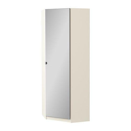 Pax corner wardrobe white tanem white wardrobes for 1 door mirrored corner wardrobe