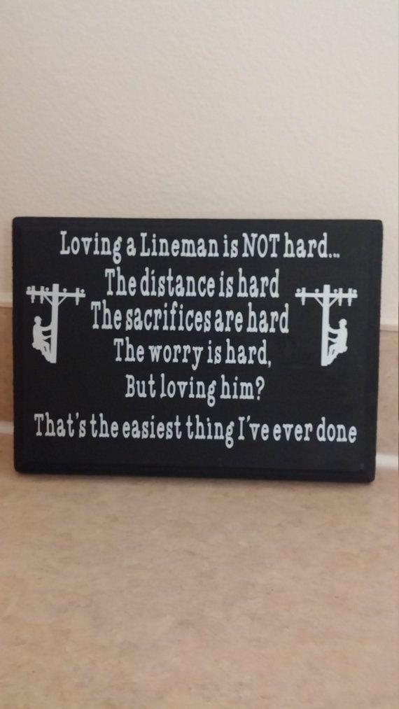 Loving a lineman sign