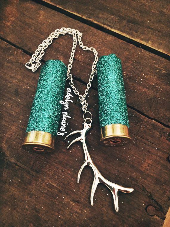 Turquoise Glitter 12 Gauge Shotgun Shell Mirror by AdelynElaines