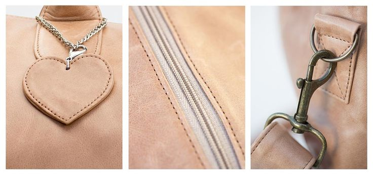 Tan leather baby bag