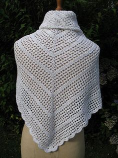 Lion Brand: Country Cotton Shawl - Free crochet pattern. This is made with crochet thread. There are over 200 projects on Ravelry using all kinds of yarn. Free Lion Brand registration required to download pattern.