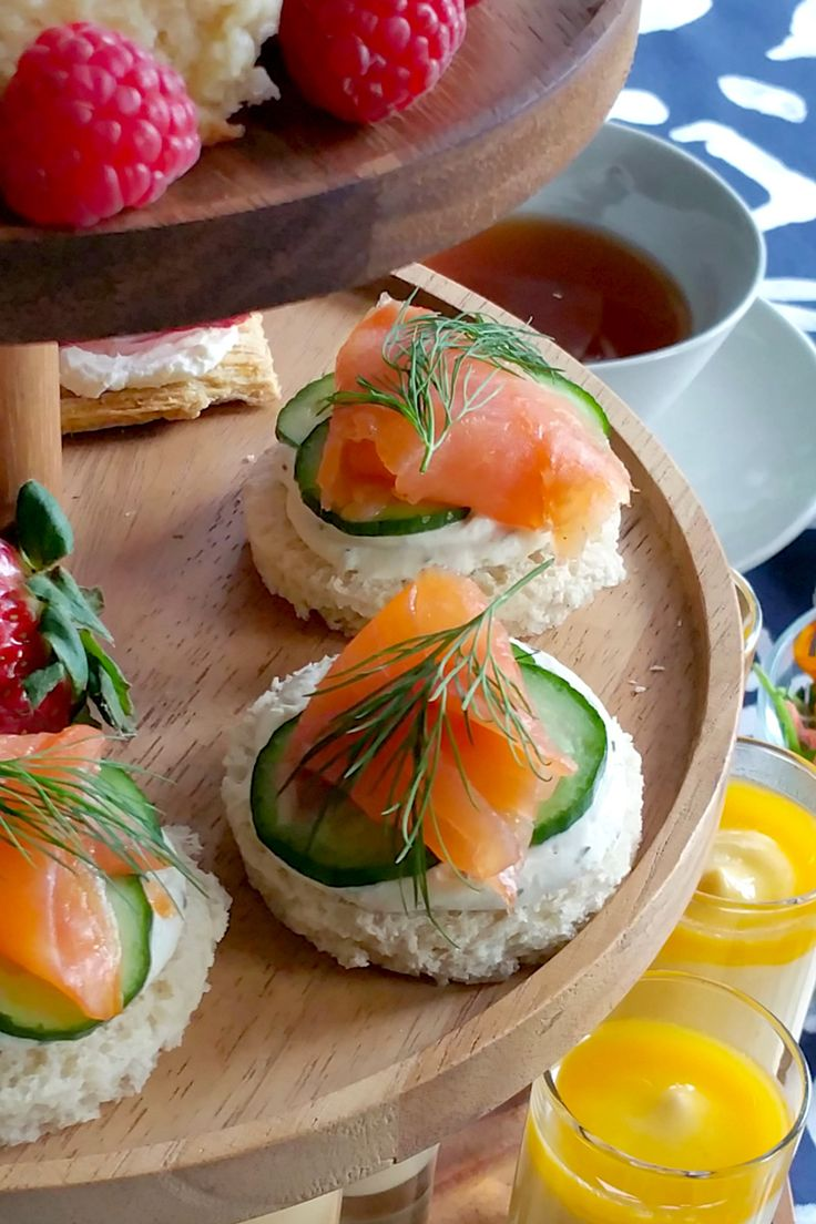 Smoked Salmon and Cucumber Tea Sandwiches