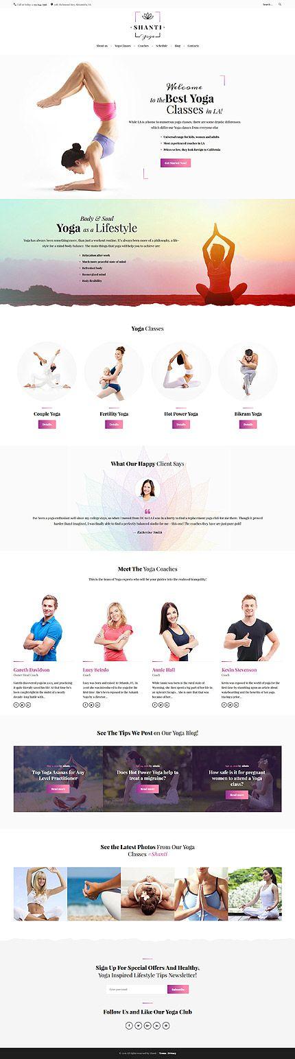 18 mejores imágenes de Yoga Website Templates en Pinterest ...