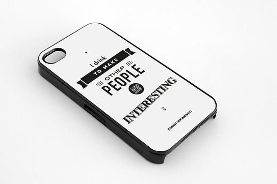 literary art Hemingway quote iPhone 5  5s case by MessProject, €13.00  #blackandwhite #wallartdecor #blackandwhite #artprint #inspirationalprint #quote #literary #etsy