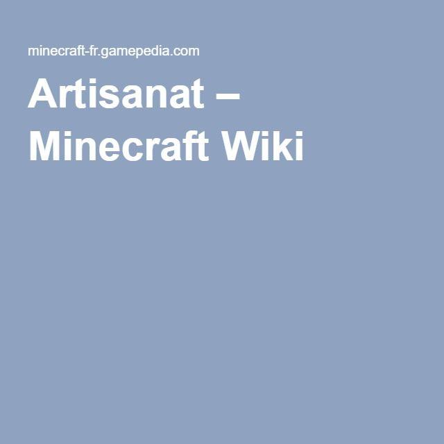 Artisanat – Minecraft Wiki