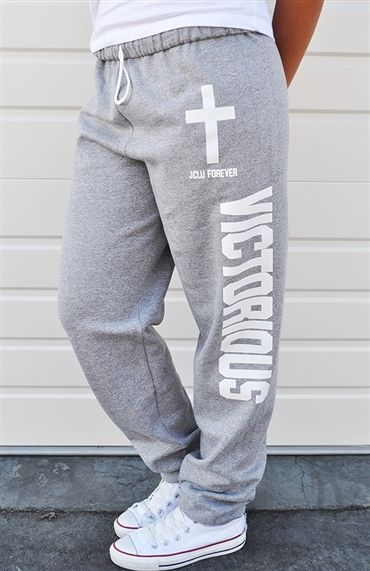 Declare yourself VICTORIOUS in Christ Jesus in a comfy and fashionable new way!