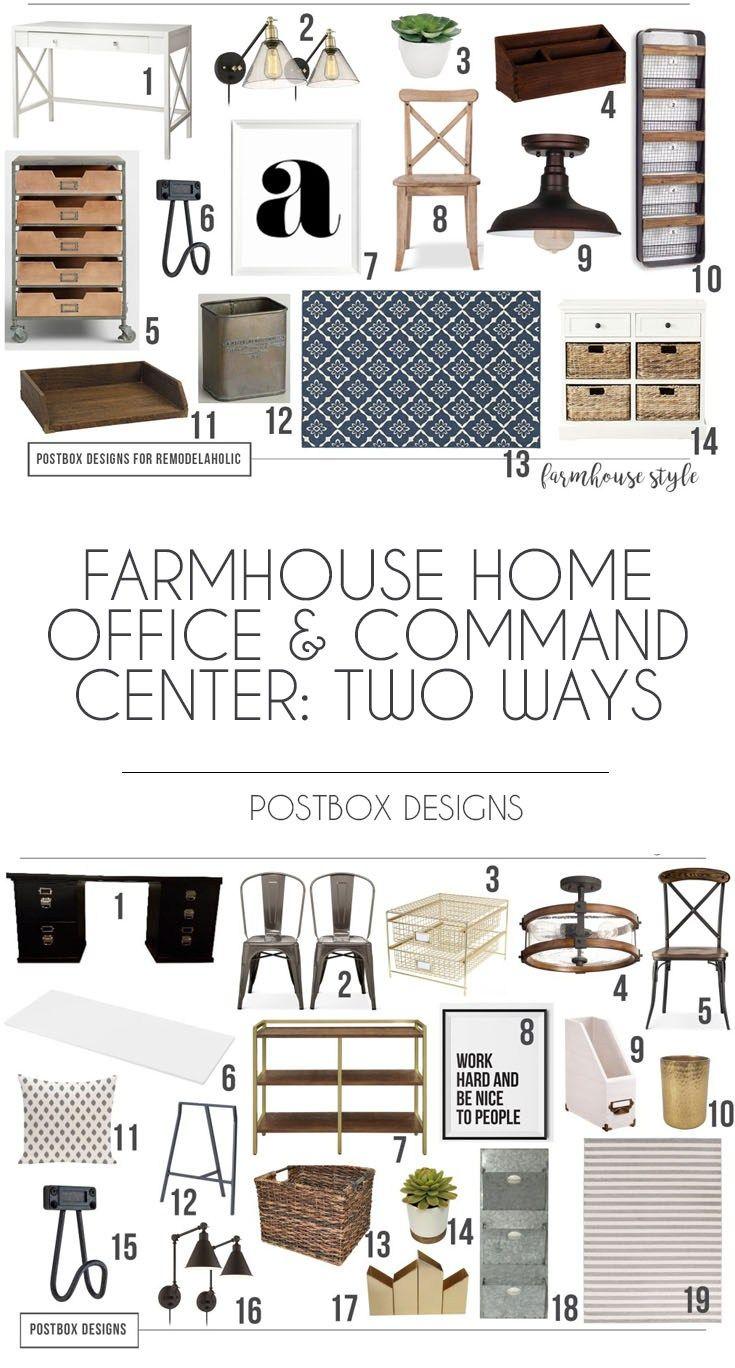Postbox Designs: Farmhouse Home Office and Command Center, Farmhouse Homework Station, home office makeover ideas, home office design ideas, kids homework center design