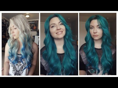 She Grabs Alpine Green And Midnight Blue For A Vibrant Deep Sea Hair Makeover