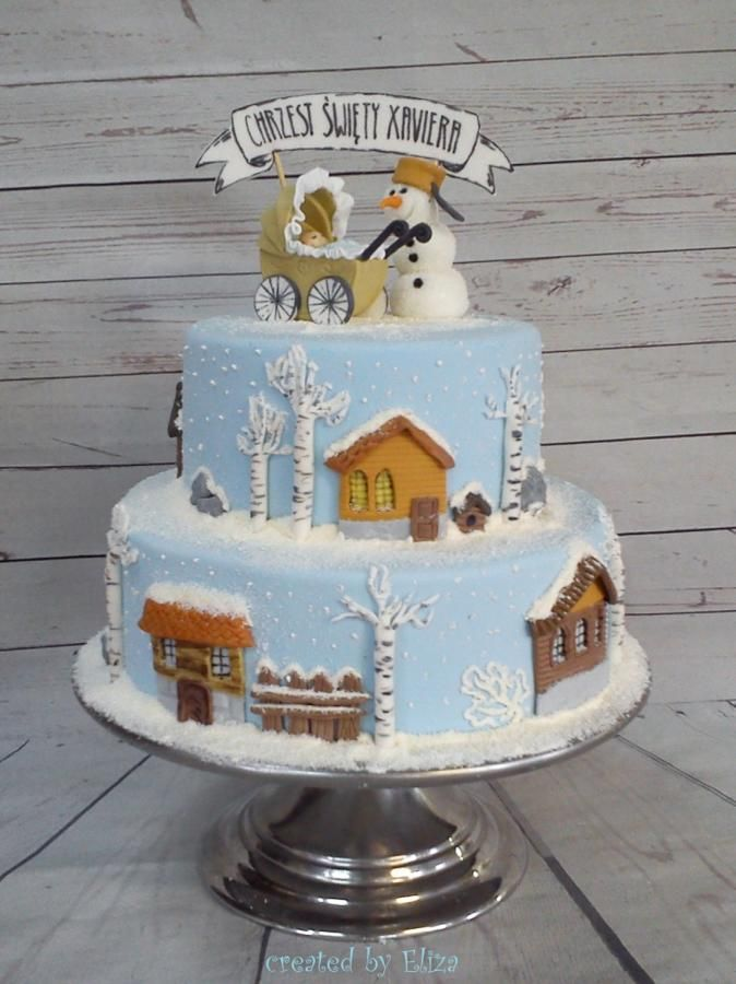 Winter cake :) by Eliza