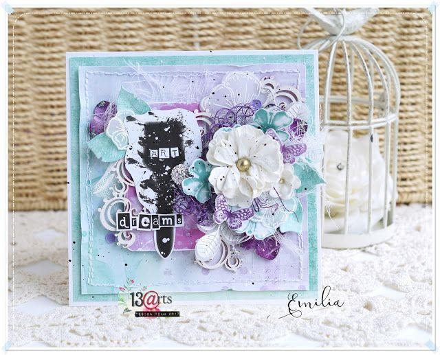 a card by Emilia Sieradzan for 13arts