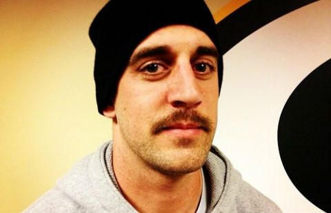 It's Movember and Green Bay Packers quarterback Aaron Rodgers is down! More: http://www.totalpackers.com/2012/11/14/aaron-rodgers-has-a-sweet-movember-mustache-photos/