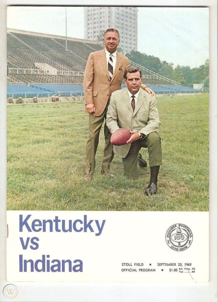 1969 Kentucky vs. Indiana Football Program September 20