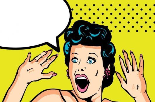Resultado de imagem para mulher gritando desenho
