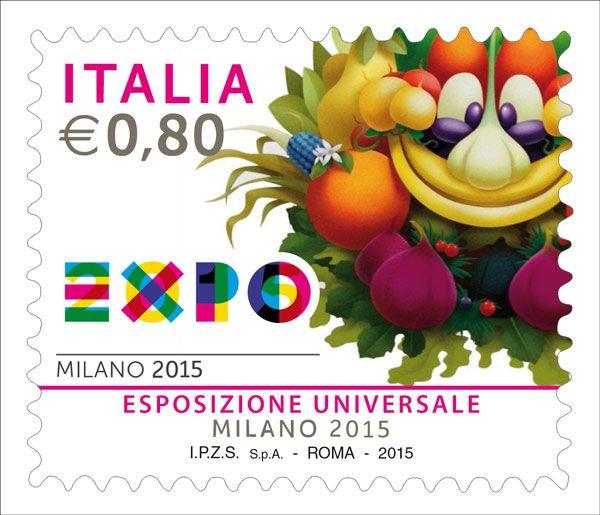 """Francobollo celebrativo dell'Esposizione Universale """"Milano 2015"""""""