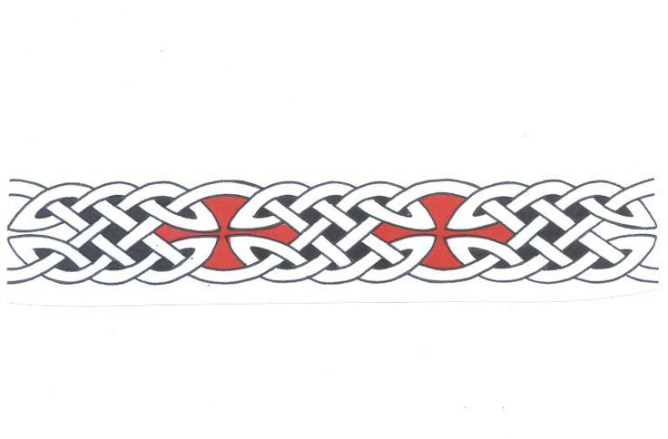 Warrior strength Tattoo armband design