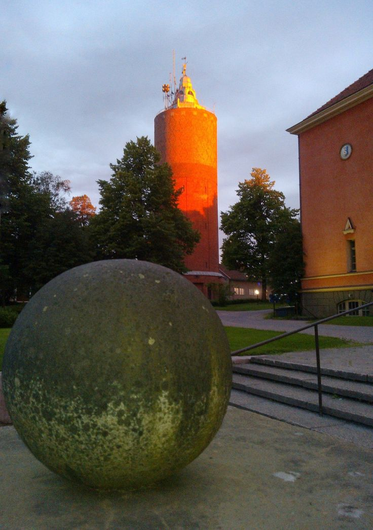 Theatre and the water tower. #kokkola