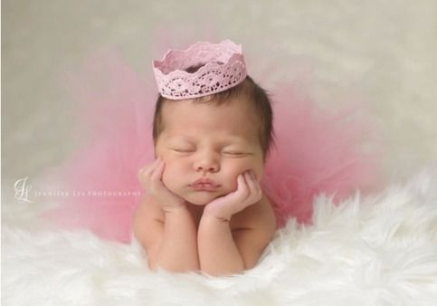 """Can we say... Amazing!!! Perfect for a welcome home princess gift! Baby shower gift! Or anything in between! Tutu can be made in any color(s) needed. Crown is made from lace! Handmade and hand painted in any color you desire! Newborn 6"""" tutu Crown"""