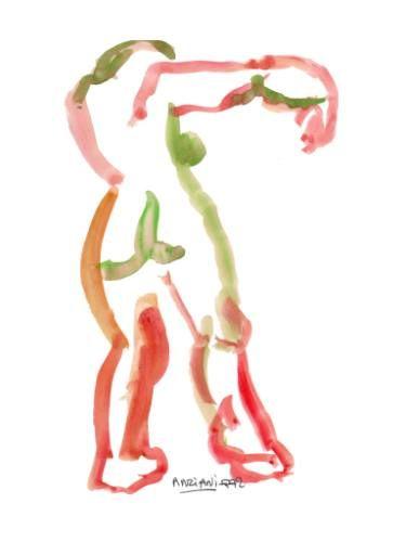 """Saatchi Art Artist Françoise Zia; Drawing, """"Standing nude 28"""" #art"""
