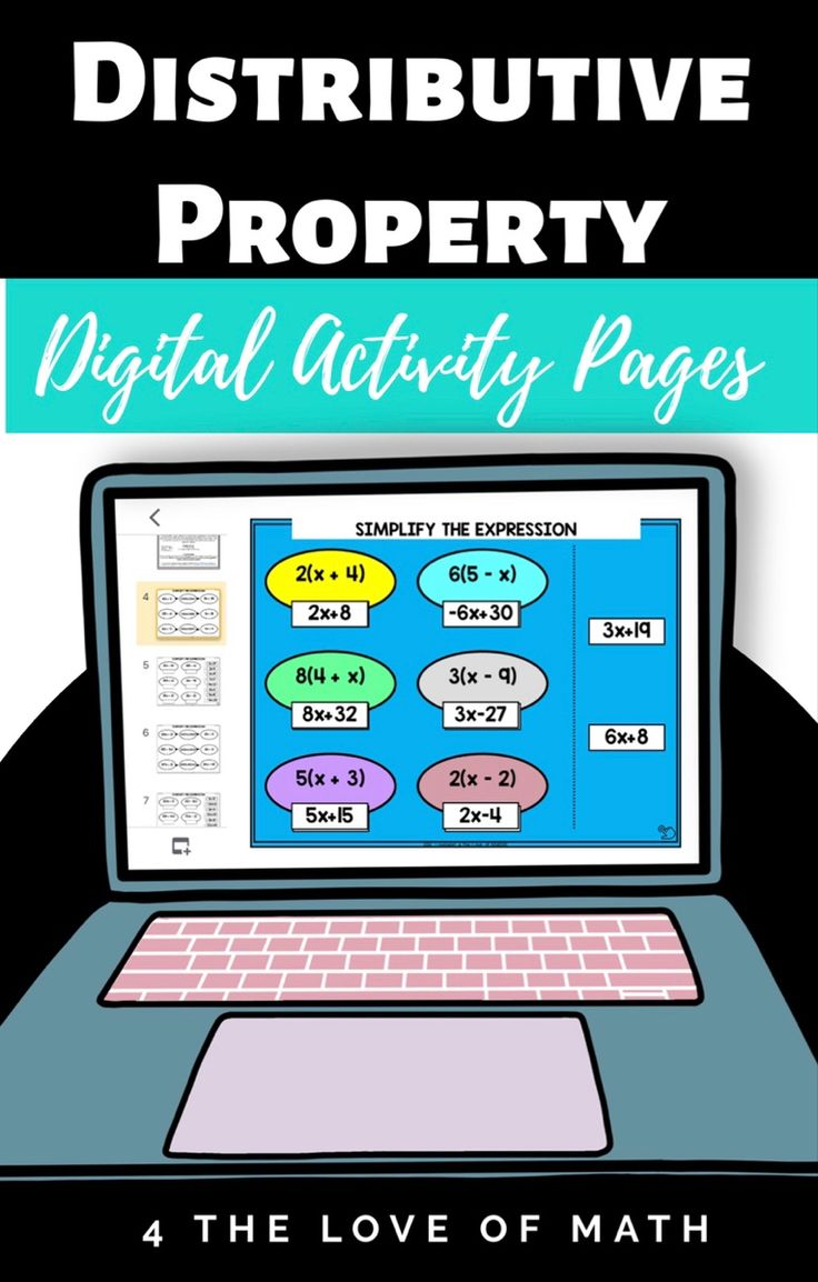 Distributive Property Digital Note And Activity Bundle For Google Drive Distributive Property Digital Lessons Middle School Math Notes