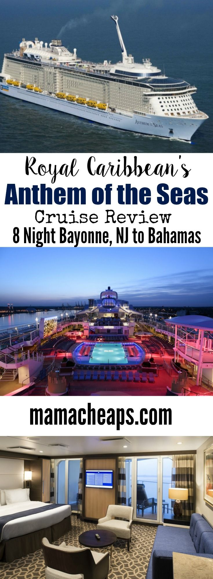 Anthem of the Seas Royal Caribbean Cruise Review (8 Night Bayonne, NJ to Bahamas) Find more travel reviews at MamaCheaps.com!