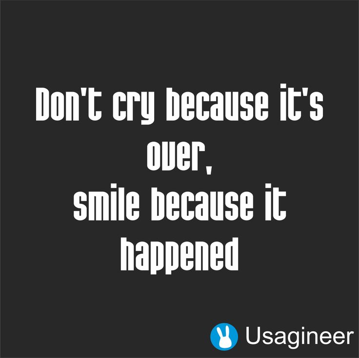 DON'T CRY BECAUSE IT'S OVER, SMILE BECAUSE IT HAPPENED QUOTE VINYL DECAL STICKER - enviarpostales.net   #felizcumple #postal5601
