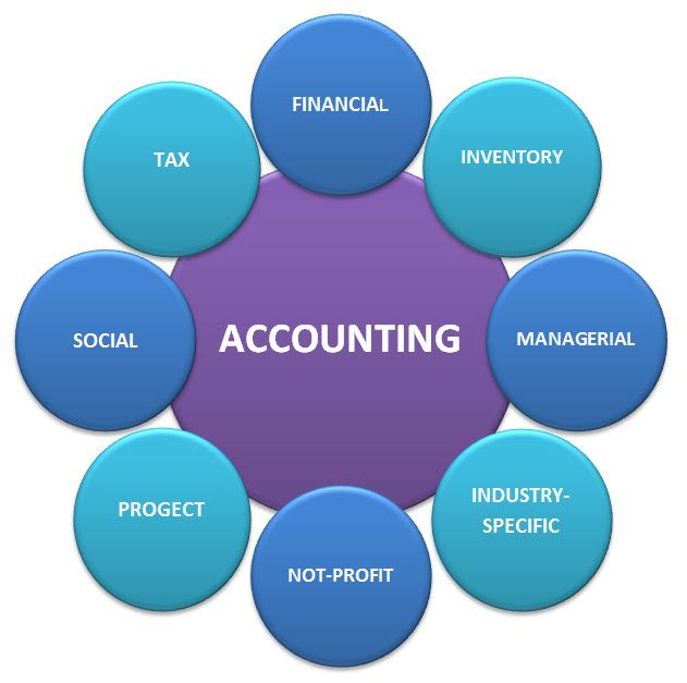 Basic accountancy types of the accounting system: financial, managerial,  governmental, tax, social, project, environmental… | Accounting, Basic, Accounting  software