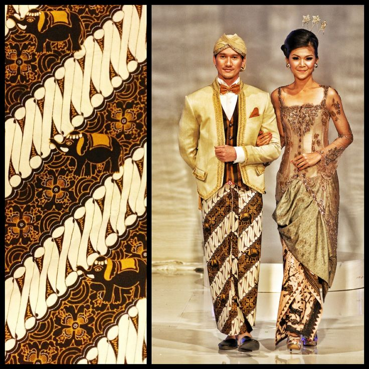 Couple in Woven Saluadji and Batik Purbodiningrat