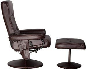 The Comfort 60-425111 is a traditional massage chair that provides a streamlined design. Many users prefer their chairs over other models because they don't have to go through multiple interfaces to get the device to function. With the push of a button, you can activate any of the chair's massage settings. Handheld controller, Separate vibrating ottoman, Manual recliner, 9 different vibration modes, 5 intensities