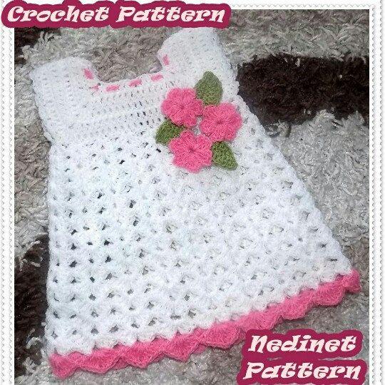 Crochet girl dress pattern.