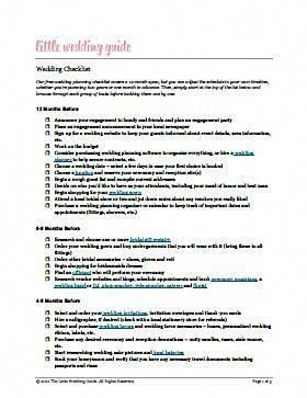 make wedding planning easy with these free checklists little
