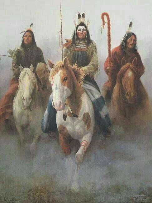Caballos indios y sus jinetes