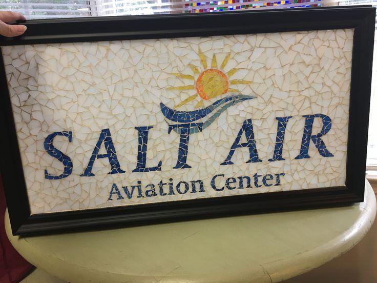 Large business logo mosaic for Salt Air Aviation Center.