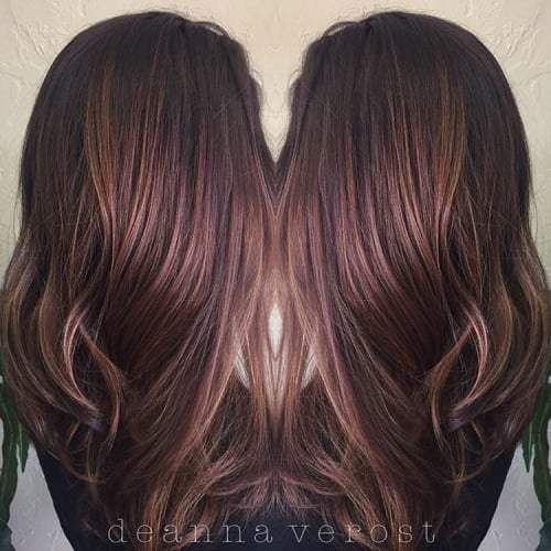 281 Best Images About Hair On Pinterest  Blonde Highlights Rose Gold Balaya
