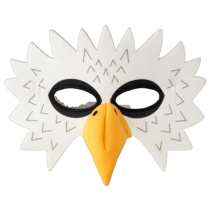 IKEA - LATTJO, Maska orła, Zachęca do odgrywania scenek rozwijając u dzieci umiejętności społeczne poprzez naśladowanie dorosłych i wymyślanie swoich własnych ról.